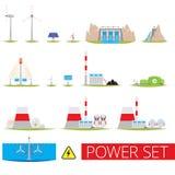 Установленные электростанции Стоковое фото RF