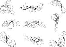 Установленные элементы дизайна свирли Стоковые Изображения RF