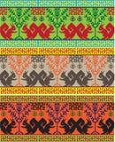 Установленные люди национальной вышивки славянские Стоковое Фото