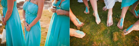 Установленные Bridesmaids Стоковая Фотография RF