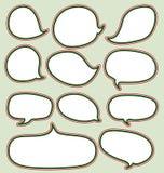 Установленные chistmas пузырей речи иллюстрация вектора