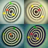 установленные dartboards Стоковая Фотография RF