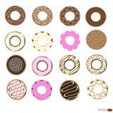 Установленные Donuts Стоковое Изображение