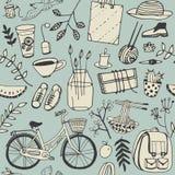 Установленные doodles настроения лета хорошие Стоковые Изображения