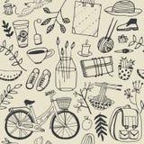 Установленные doodles настроения лета хорошие Стоковое Фото