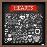 Установленные doodles сердца бесплатная иллюстрация