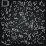 Установленные doodles hool  SÑ Стоковое Изображение