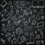 Установленные doodles hool  SÑ Стоковые Изображения