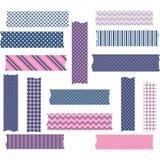 Установленные Nany и розовые графики ленты Washi Стоковые Фото