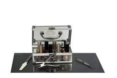 установленные sciccors процедуре по ногтя manicure красотки Стоковые Фотографии RF