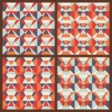 Установленный вектор: безшовные геометрические картины Стоковые Изображения RF