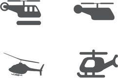 Установленный значок вертолета - вектор Стоковое Фото