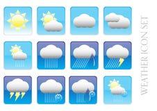 Установленный значок - погода Стоковое Изображение