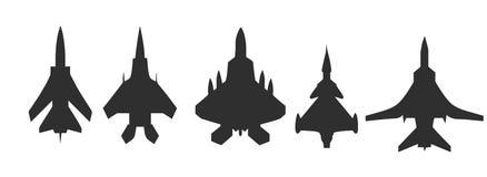 Установленный значок самолета нападения - вектор Стоковая Фотография RF