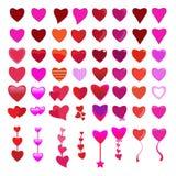 Установленный значок сердец - иллюстрация Стоковое Изображение RF