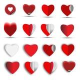 Установленный значок сердец - иллюстрация Стоковые Фото