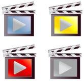 Установленный значок средств массовой информации кино цифров (вектор) Стоковая Фотография RF