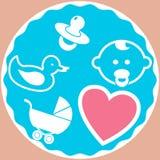 Установленный младенец - иллюстрация Стоковые Изображения RF