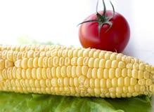 Установленный свежий овощ с зелеными лист Стоковое Фото