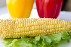 Установленный свежий овощ с зелеными лист Стоковое Изображение RF