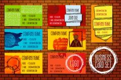 Установленный современный шаблон визитной карточки Стоковые Фото