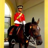 Установленный солдат, королевский дворец, Istana Negara, Куала-Лумпур стоковые изображения rf