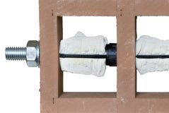 Установленный химический анкер Стоковые Фото