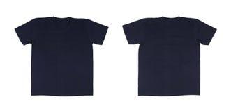 Установленный шаблон футболки (фронт, задняя часть) Стоковое Изображение RF