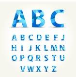 Установленный шрифт символа - на предпосылке - Стоковые Изображения