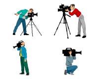 6 установленных videographers Стоковая Фотография