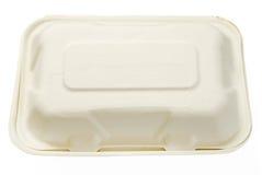 Устранимая белая трудная бумажная на вынос коробка Стоковое Изображение