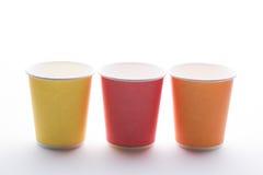 Устранимые красочные чашки Стоковые Изображения RF