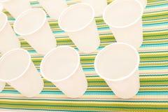 Устранимые чашки Стоковые Фото