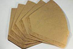 Устранимый бумажный фильтр кофе Стоковые Изображения RF