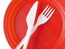устранимый красный цвет плиты Стоковые Изображения