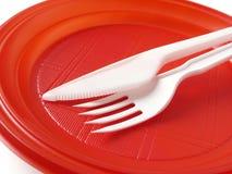 устранимый красный цвет плиты Стоковые Фотографии RF