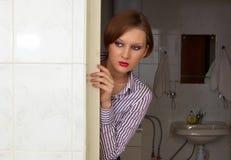 устрашенная девушка Стоковые Фото