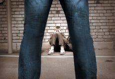 устрашенный мальчик Стоковые Фото