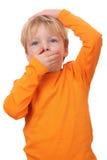 Устрашенный мальчик Стоковая Фотография RF