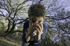 устрашенный мальчик Стоковое фото RF