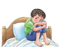 устрашенный мальчик Стоковые Фотографии RF