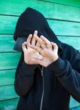 Устрашенный подросток внешний Стоковое Изображение RF