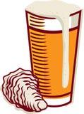 устрица пива Стоковые Фотографии RF