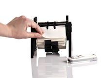 устроитель визитной карточки ища ринв стоковая фотография rf