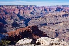 Уступчик над грандиозным каньоном Стоковые Изображения