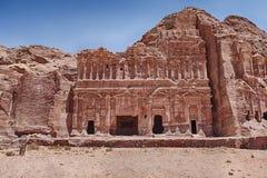 Усыпальница дворца Petra стоковое фото rf