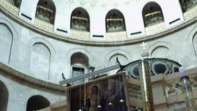 Усыпальница Иисуса Христоса пустая в Иерусалиме видеоматериал