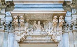 Усыпальница невиновного x Maini в церков ` Agnese Sant в Agone в Риме, Италии стоковое фото