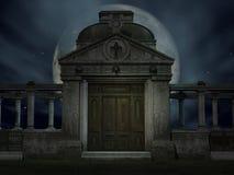 усыпальница halloween иллюстрация штока