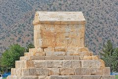 Усыпальница Pasargad большая Cyrus Стоковые Фото
